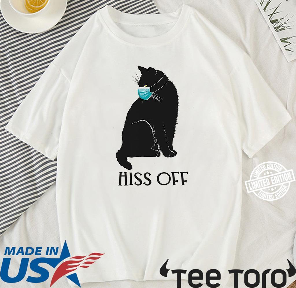 Black Cat Covid Hiss Off Shirt