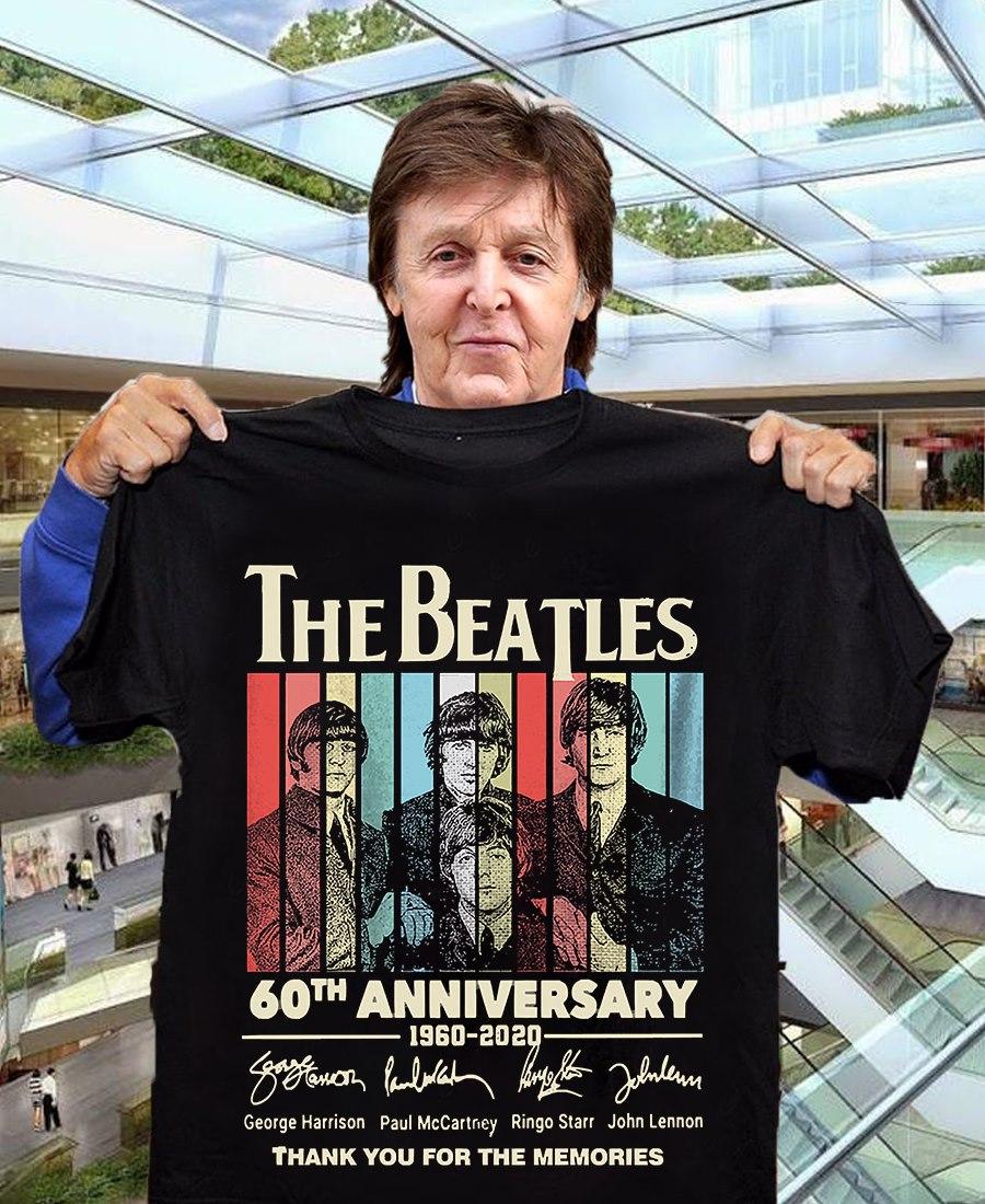 The beatles 60th anniversary 1960-2020 shirt