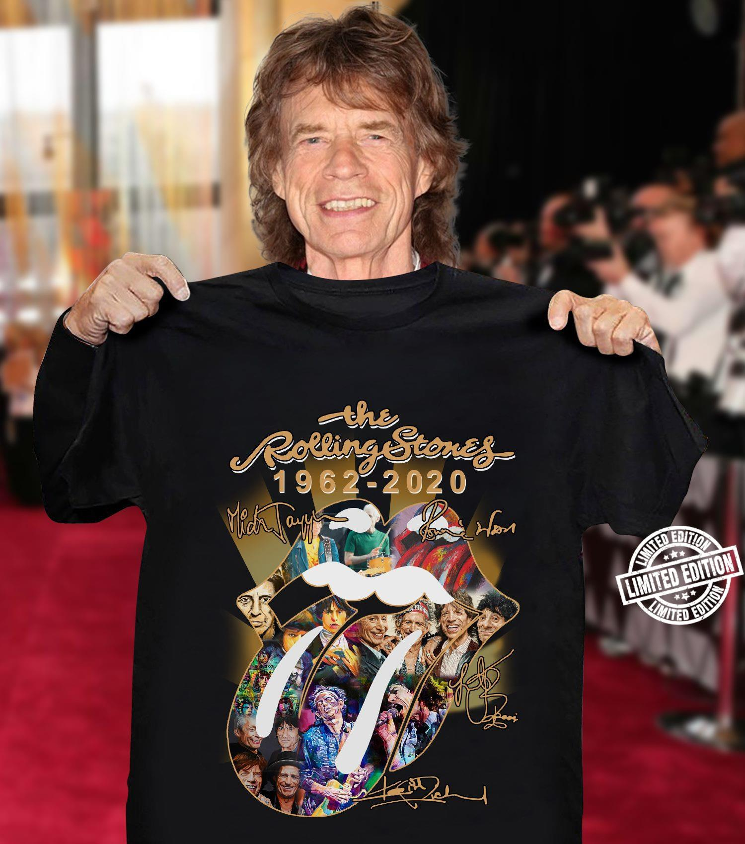 The rolling stones 1962-2020 singnature shirt