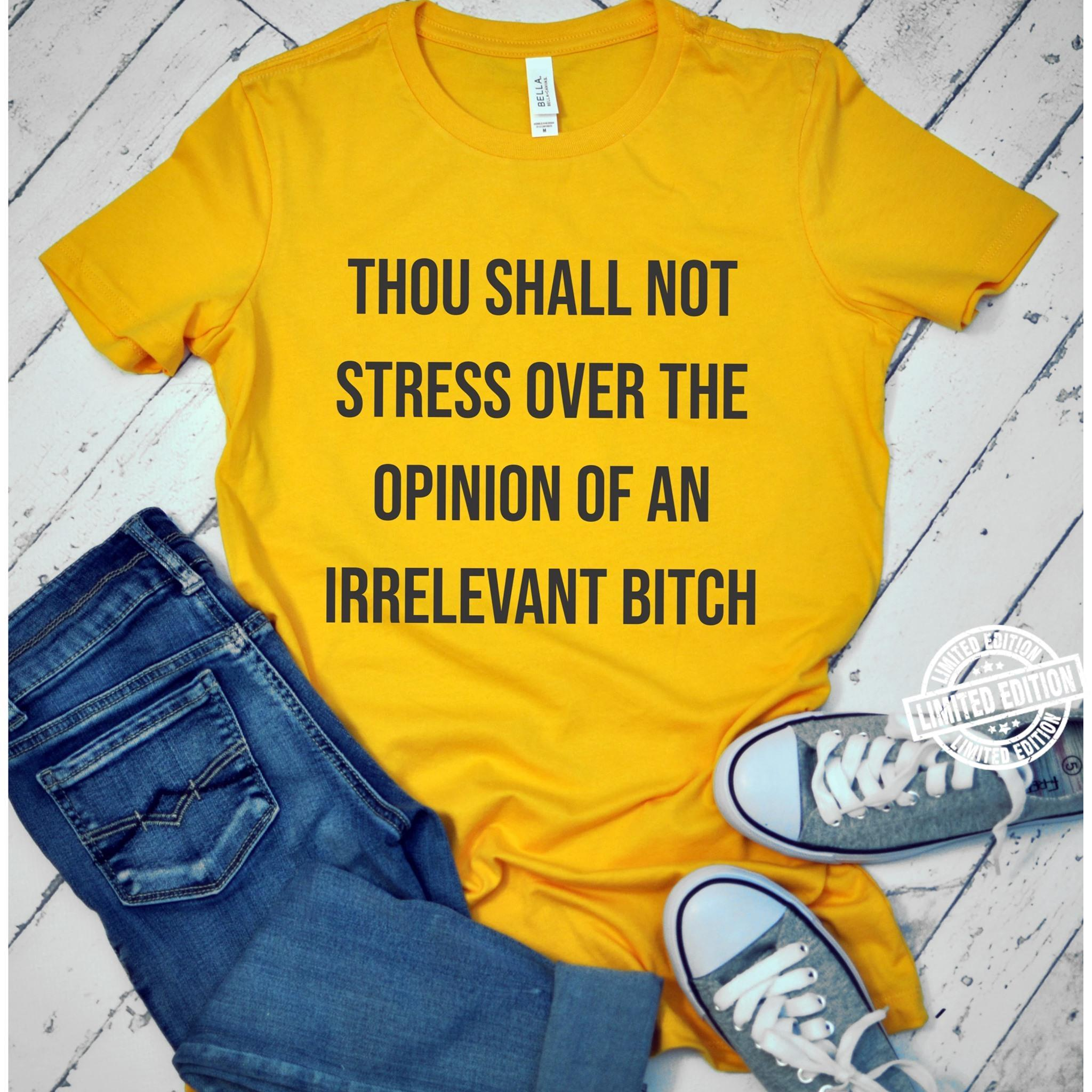 Thou shall not stress over the opinion of an irrelevant bitch shirt