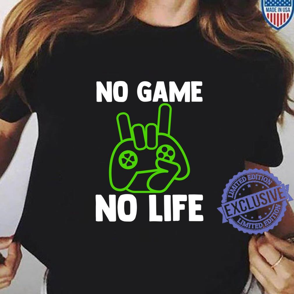 Video Game Esports No Game No Life Gamer Shirt ladies tee