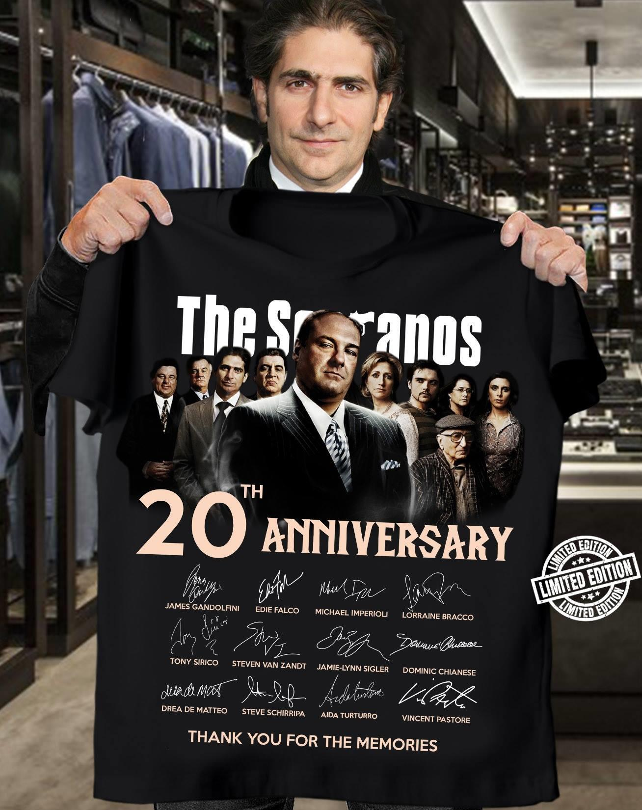 the sopranos 20th anniversary signature shirt